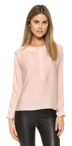 Milly Dolman blouse in blush - A modified peter pan collar brings subtle charm to this...
