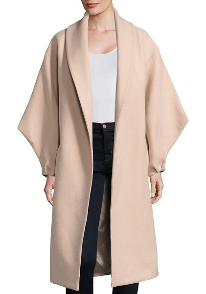 Milly doubleface viola coat in ballet - Wool-blend coat with tie detail at back. Shawl collar....