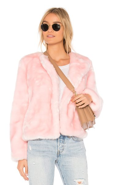 Milly faux fur jacket in ballet