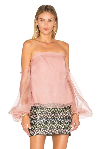 Milly Gloria Top in rose - Silk Blend. Dry clean only. Hidden back zip closure....