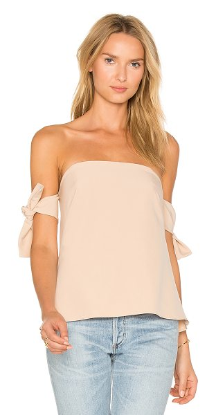 Milly Jade Top in beige - Poly blend. Dry clean only. Plastic bodice boning....