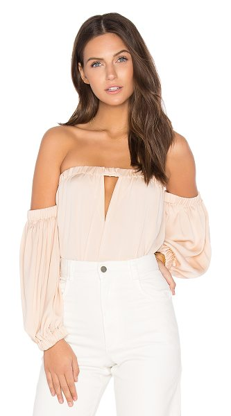 MILLY Leslie Top - Silk blend. Dry clean only. Elastic neckline with...