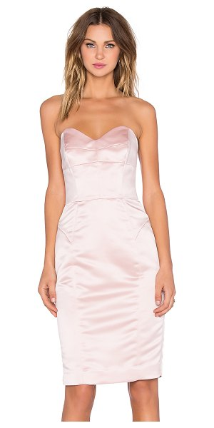 Milly Marta duchess satin strapless dress in blush - Poly blend. Dry clean only. Fully lined. Plastic bodice...