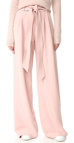 Milly trapunto trousers in blush - NOTE: Runs true to size. An optional, topstitched belt...