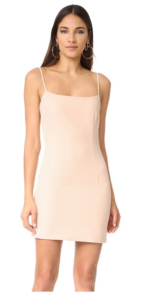 Milly mini slip dress in nude - A fitted Milly mini dress in a formfitting silhouette....