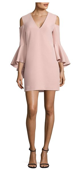 Milly nicole cold-shoulder bell sleeve dress in blush - EXCLUSIVELY AT SAKS FIFTH AVENUE. Stunning dress updated...