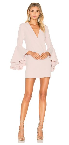 Milly Nicole Dress in blush - Poly blend. Dry clean only. Fully lined. Flared sleeves....