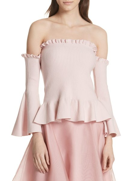 Milly pintuck off the shoulder top in ballet - Soft, romantic and stylish, this off-the-shoulder knit...