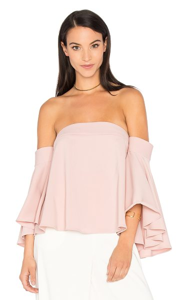Milly Rosa Top in blush - Poly blend. Dry clean only. Flared sleeves. Hidden back...