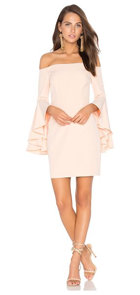 "Milly Selena Mini Dress in peach - ""Poly blend. Dry clean only. Fully lined. Flared..."