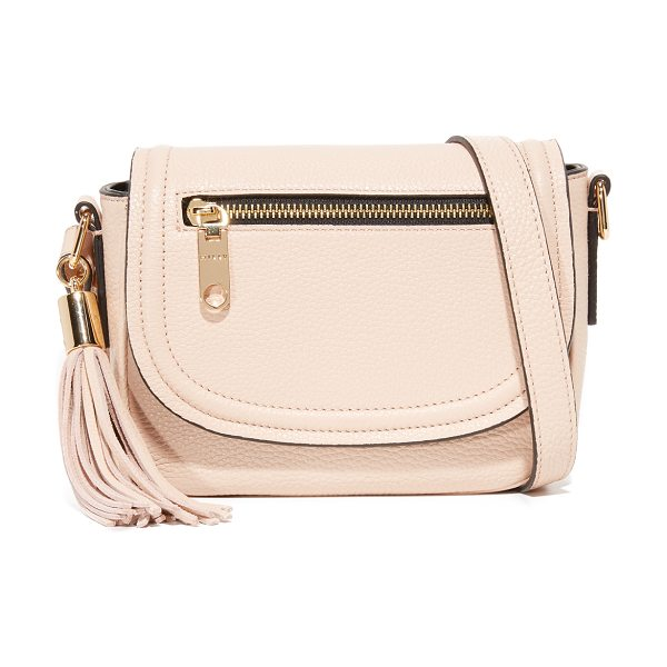Milly small astor saddle bag in nude - A scaled-down Milly saddle bag crafted in pebbled...