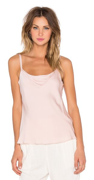 Milly Stretch silk cami in blush - Silk blend. Dry clean only. MILL-WS329. 177 SC 040219....