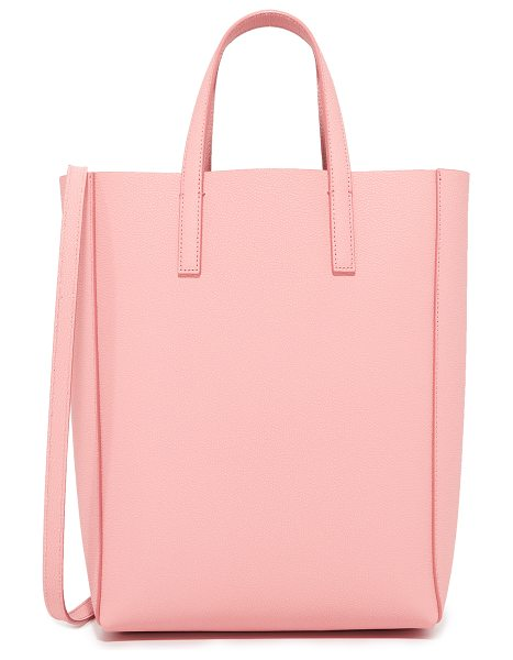 MILMA mini tote bag in blush - A pebbled-leather MILMA tote with a sleek, minimalist...
