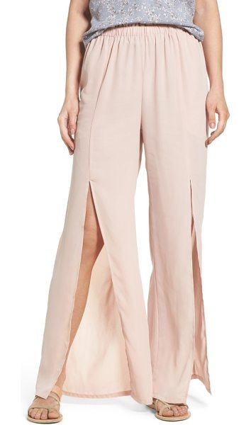 MIMI CHICA slit detail pants - Thigh-high front slits release the flowy wide leg of...