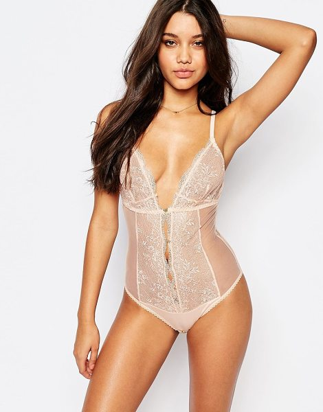 MIMI HOLLIDAY Ever yours bodysuit - Body by Mimi Holliday Sheer mesh Eyelash lace panels...