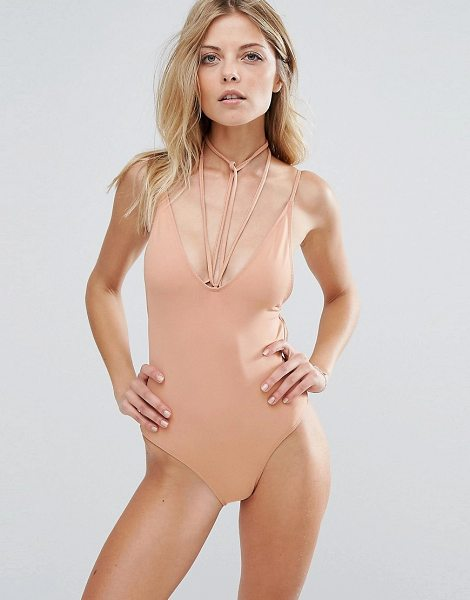 MINIMALE ANIMALE swimsuit in cognac