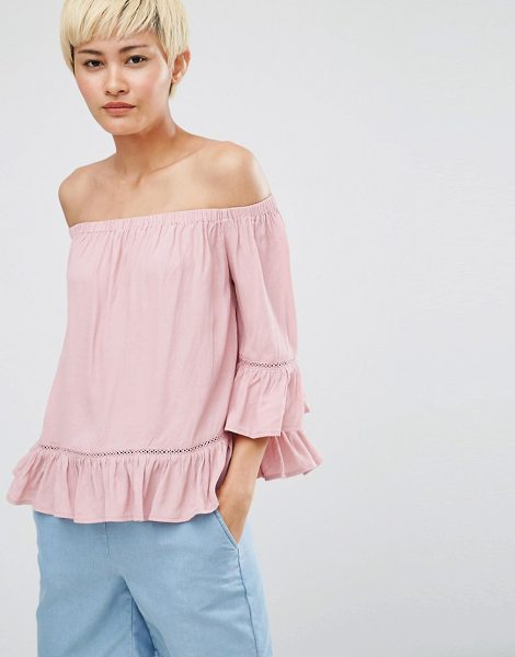Minimum Gunta Cold Shoulder Blouse in pink - Top by Minimum, Lightweight woven fabric, Cold-shoulder...