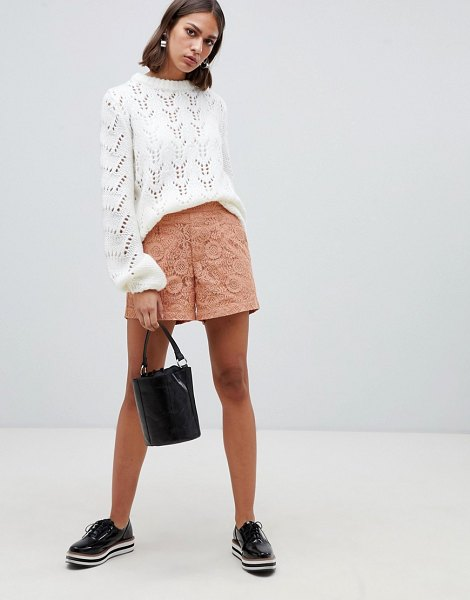 Minimum moves by  high waisted shorts in pink