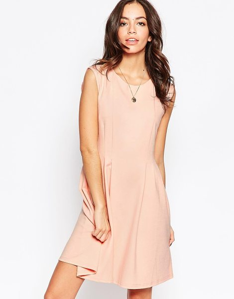 Minimum Sleeveless Skater Dress in pink - Casual dress by Minimum, Stretch knit fabric, Scoop...