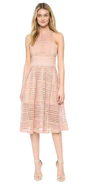 MINISTRY OF STYLE allure floaty dress in blush - Crisp pleats accent the swingy skirt of this Ministry of...