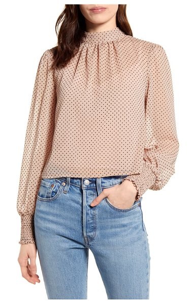 Minkpink be someone flocked dot top in pink