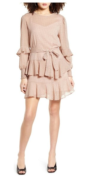 Minkpink be someone ruffle long sleeve minidress in pink