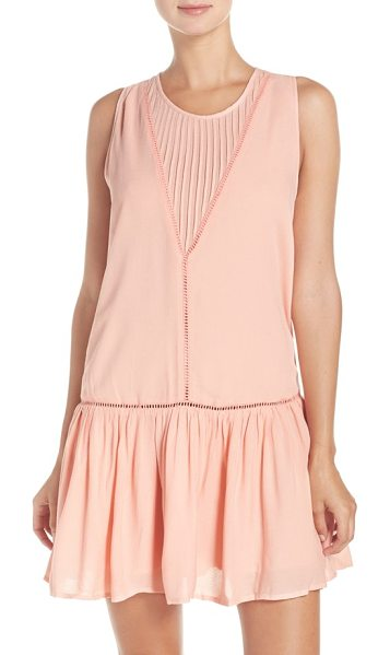 Minkpink 'blushing beach' cover-up dress in blush pink - Embody by-the-sea ease when covering up your swimwear in...