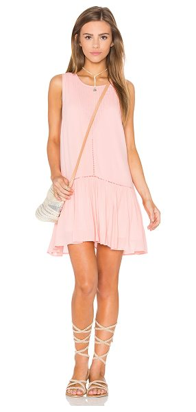 Minkpink Blushing Beach Dress in pink - Cotton blend. Hand wash cold. Fully lined. Pleated...
