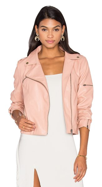 Minkpink Deputy Jacket in blush - Polyurethane blend. Dry clean only. Zip front closure....