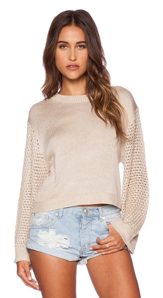 Minkpink Ghost ship sweater in taupe - 50% acrylic 50% cotton. Hand wash cold. MINK-WK79....