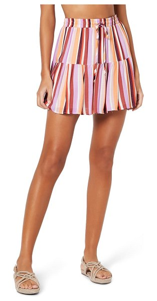 Minkpink ilios tiered cover-up miniskirt in pink