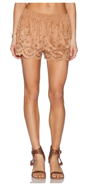 Minkpink Lackawanna blues short in tan - 92% poly 8% elastane. Hand wash cold. Shorts measure...