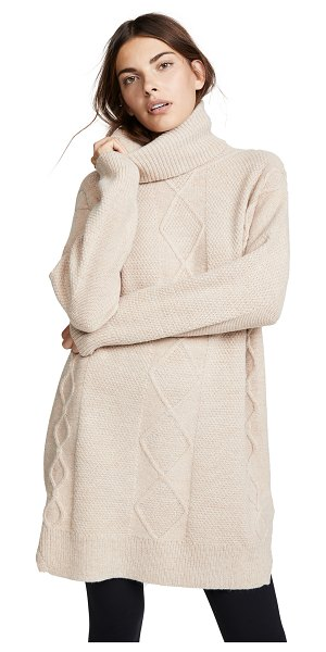 Minkpink lesley cable knit tunic in natural - Fabric: Cable knit Pullover style Tunic length...