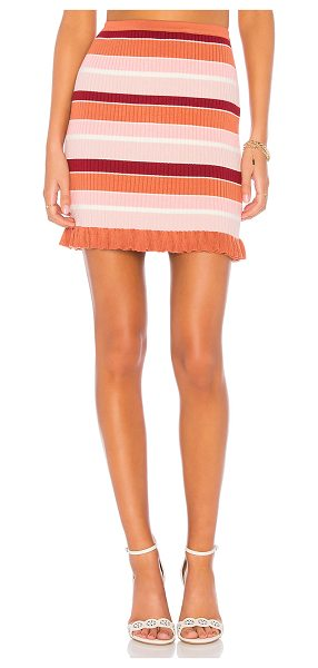 """Minkpink Shades of Rose Skirt in pink - """"78% viscose 22% polyamide. Hand wash cold. Unlined...."""