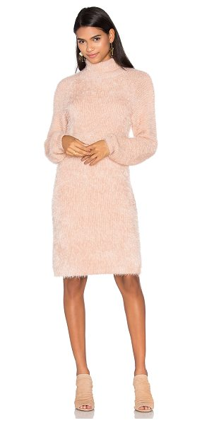Minkpink Soft Serve Sweater Dress in nude - Cotton blend. Hand wash cold. Unlined. Rib knit eyelet...