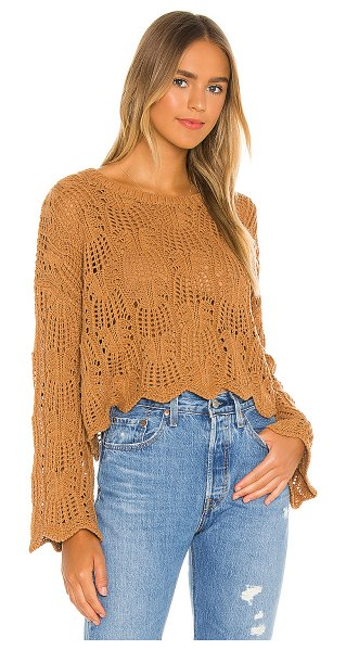 Minkpink wynn knit sweater in tan