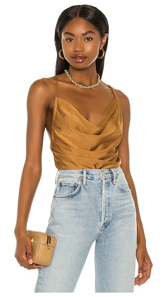 Minkpink yuli cowl cami top in gold