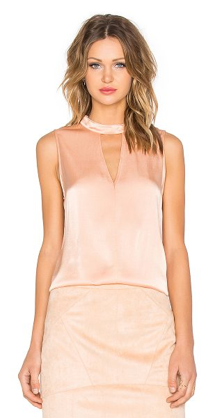 Minty Meets Munt Across the boarder top in blush - Poly blend. Front cut-out detail. Back keyhole with...