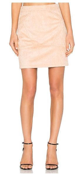 Minty Meets Munt In Control Skirt in blush - Faux suede. Fully lined. Back exposed zipper closure....