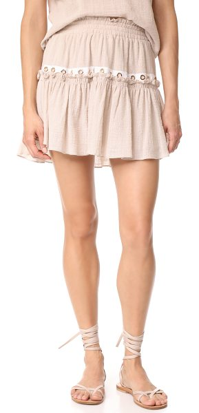 MISA alana skirt - This flirty MISA skirt has a gathered ruffle and a...