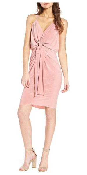 MISA domino dress in dusty rose - Get ready for date night in no time with this slinky...