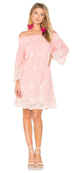 "MISA Angelica Dress in pink - ""Self: 100% cottonLining: 100% viscose. Dry clean only...."