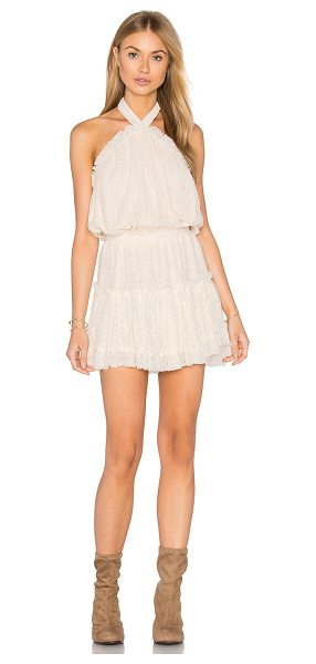 "MISA Desa Dress in cream - ""Cotton blend. Hand wash cold. Fully lined. Halter strap..."