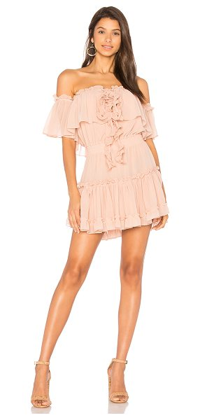 "MISA Melis Dress in blush - ""100% viscose. Dry clean only. Fully lined. Elasticized..."