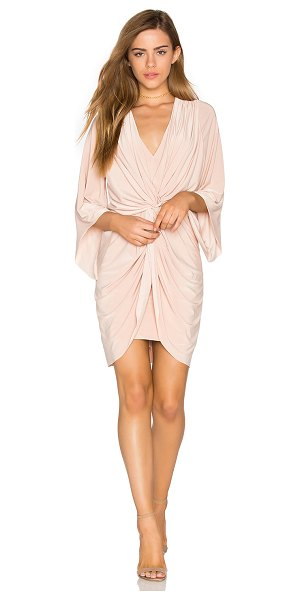 MISA Teget Dress in nude - 96% poly 4% spandex. Dry clean only. Fully lined. Front...
