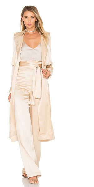 MISHA COLLECTION Gelloma Silk Trench - 100% silk. Dry clean only. Waist tie front closure....