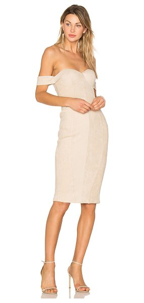 "MISHA COLLECTION Jackie Dress in beige - ""Self: 90% poly 10% elastanLining: 95%poly 5% elastan...."