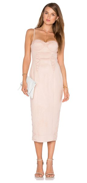 MISHA COLLECTION Leia Dress in blush - Self & Lining: 95% poly 5% spandex. Dry clean only....