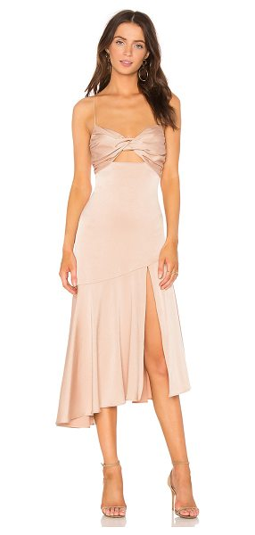 MISHA COLLECTION Lidia Dress in blush - Poly blend. Dry clean only. Partially lined. Twisted...