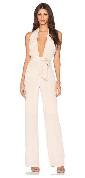 MISHA COLLECTION Melita pantsuit in beige - Shell: 100% silkLining: 95% poly 5% spandex. Dry clean...